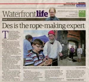 Des in Ipswich Star 22.8.13 web